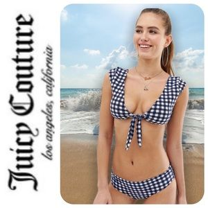 Juicy Couture Gingham Cap Sleeve Bikini - NWT